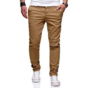 behype. Herren Basic Chino Jeans-Hose Stretch Regular Slim-Fit 80-0310 Bekleidung