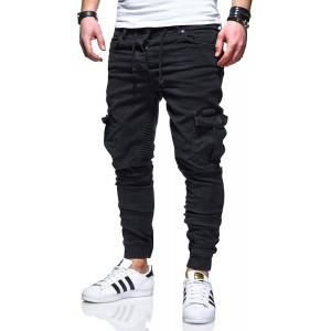 behype. Herren Cargo-Jeans Jogger-Jeans Biker Jeans-Hose 80-2370 Bekleidung