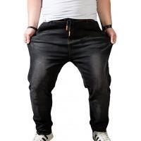 Heheja Herren Übergröße Jeans Hohe Taille Denim Hose Super Elastizität Jeanshosen Bekleidung