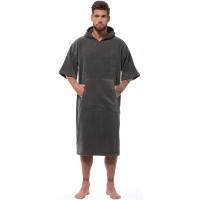 Morgenstern Surf Poncho mit Kapuze für Erwachsene - Badeponcho für Damen und Herren Bekleidung