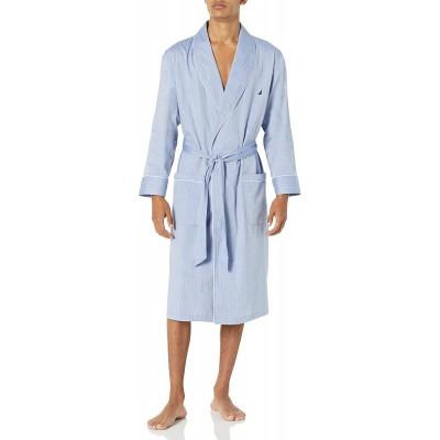 Nautica Herren Long Sleeve Lightweight Cotton Woven Robe Bademantel Bekleidung