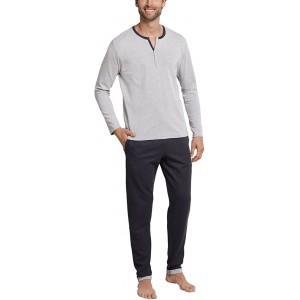 Schiesser Herren Anzug Lang Zweiteiliger Schlafanzug Bekleidung