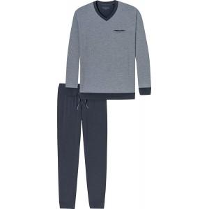 Schiesser Herren Schlafanzug Set lang grau anthrazit 203 XXX-Large Herstellergröße 058 Schiesser Bekleidung