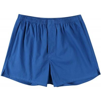 HUAZONG Herren-Schlafanzughose aus Baumwolle Herren-Schlafanzug-Shorts Lounge-Shorts kariert Knopfleiste super weich Bekleidung