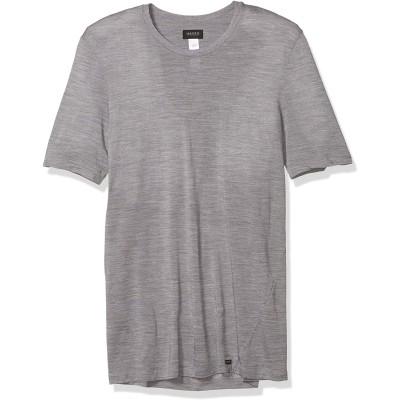Hanro Leichtes Merino Kurzarmhemd für Herren - grau - Klein Bekleidung