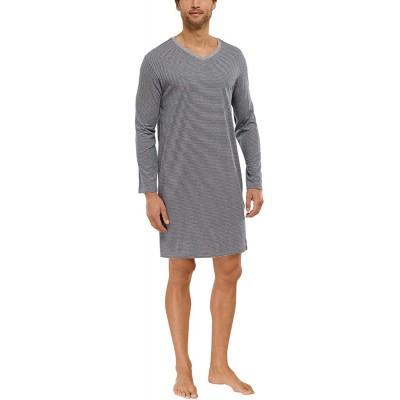 Schiesser Herren Nachthemd 1 1 Schlafanzugoberteil Grau grau-Mel. 202 Small Herstellergröße 048 Bekleidung