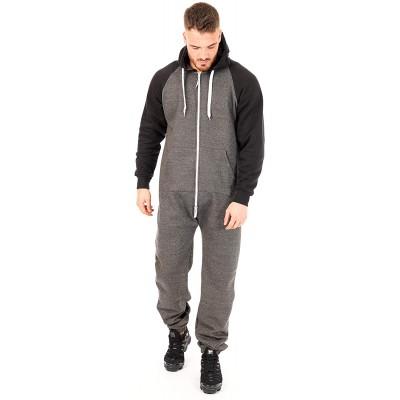 Herren Onesie Jumpsuit Einteiler Schlafanzug Schlafoveralls Herren Fleece Overall Bekleidung