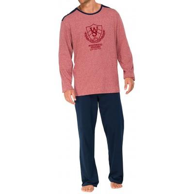 Schiesser Herren Anzug Lang Pyjama Rot 500-rot 52 L Bekleidung