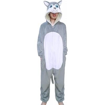 wotogold Tier Husky Hund Pyjamas Unisex Erwachsene Cosplay Kostüme Bekleidung