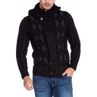 Cipo & Baxx Herren Grobstrickpullover Cardigan Strickjacke Kapuzenjacke Pullover Sweatshirt Bekleidung