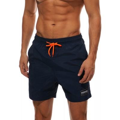 BELLOO Herren Sommer Badeshorts Swimming Trunks Beach Shorts Badehosen mit verstellbarem Tunnelzug & Taschen für Surfen Bekleidung