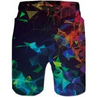 Fanient Herren Badehose Badeshorts 3D Grafik Swim Shorts Schwimmhose Freizeit Shorts Schnelltrocknend Badeshorts für Männer Trainingshose mit Mesh-Futter Bekleidung