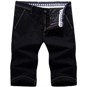 Celucke Herren Jeans Shorts Kurze Hose Jeanshose Männer Sommer Bermuda Basic Denim Moderne Stretch Capri Slim Fit Mix Bekleidung