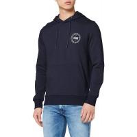 JACK & JONES Herren JORVINCEY Sweat Hood Kapuzenpullover Blau Navy Blazer FitREG - JJ Small HerstellergrößeS Bekleidung