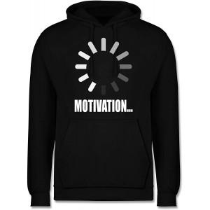 Shirtracer - Nerds & Geeks - Lade Motivation. weiß - Herren Hoodie und Kapuzenpullover für Männer Shirtracer Bekleidung