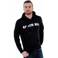 Diesel Sweatshirt Herren Langarm Schwarz 00STS4-RWAP0-900 Black Bekleidung