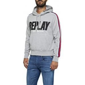 Replay Herren M3797 .000.21842 Sweatshirt Grau Light Grey Melange. M05 Small Herstellergröße S Bekleidung
