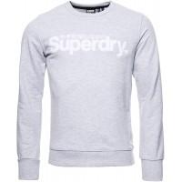 Superdry Herren Core Loopback-Sweatshirt mit Logo aus Wildlederimitat Bekleidung