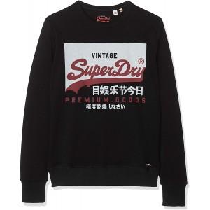 Superdry Herren Vintage Logo Crew Sweatshirt Bekleidung