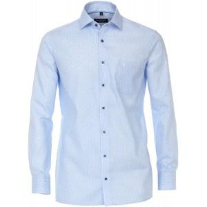 CASAMODA Herren Dobby Hemd mit modischem Druck Comfort Fit Bekleidung