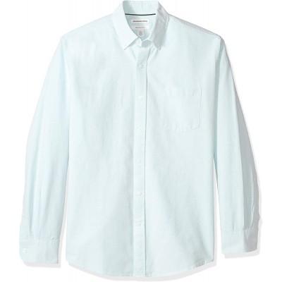 Essentials Herren Regular-fit Long-sleeve Windowpane Pocket Shirt button-down-shirts Bekleidung