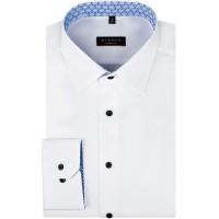 eterna Modern Fit Hemd in Langarm 65cm   Reine Baumwolle   Kent Kragen   bügelfrei knitterfrei Bekleidung