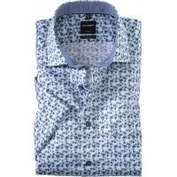 OLYMP Kurzarm Hemd mit floralem All-Over Muster Bekleidung
