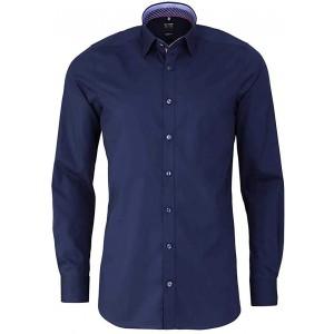 OLYMP Level Five Body fit Hemd extra Langer Arm mit Besatz Nachtblau Bekleidung