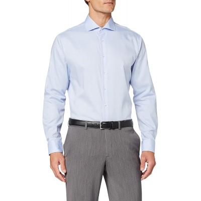 Seidensticker Herren Business Hemd - Bügelfreies tailliertes Hemd -Shaped Fit - Langarm - Kent-Kragen - 100% Baumwolle Bekleidung