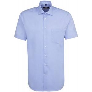 Seidensticker Herren Comfort Kurzarm mit Kent Kragen Bügelfrei Uni Businesshemd Bekleidung