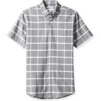 Essentials Herren Regular-fit Short-sleeve Solid Pocket Oxford Shirt Freizeithemd Bekleidung