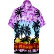 LA LEELA Herren Button-down Hawaiihemd Floral Regular Fit LA LEELA Bekleidung