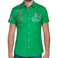 Redbridge Herren Hemd Kurzarm Freizeithemd Regular Fit Tailliert bestickt R-Style R-2122 Bekleidung