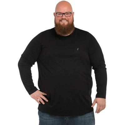 Alca Langarmshirt Mit Rundhalsausschnitt für Männer mit Übergröße Bauchumfang XL-8XL Herren Langarm-T-Shirt Mit Crew-Neck. Bekleidung