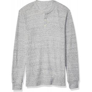 -Marke  Essentials Herren henley-shirts Slim-fit Long-sleeve Waffle Henley Bekleidung