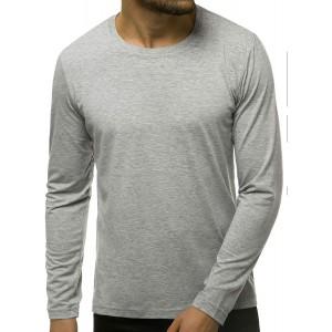 OZONEE Herren Langarmshirt Longsleeve Sweatshirt T-Shirt Slim Fit Sport Langarm Top Rundhals-Ausschnitt Regular Round Neck Long Sleeve U-Neck Sweats Langarmhemd JS CX01 Bekleidung