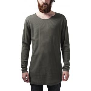Urban Classics Herren Long Shaped Waffle L S Tee T-Shirt Bekleidung