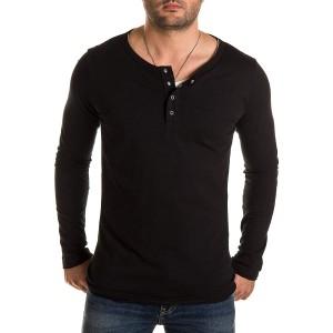 WOTEGA Herren 2-in-1 Langarmshirt Longsleeve T-Shirt Pete Bekleidung