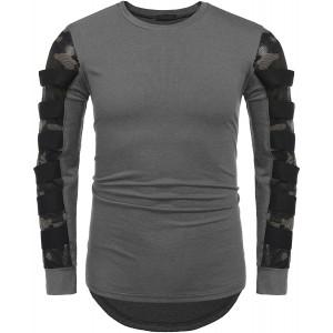 Zeela Herren Langarm Shirt Casual Longsleeve Slim Fit Shirt Leicht Basic Shirt Sports Tops Freizeit Top Bekleidung