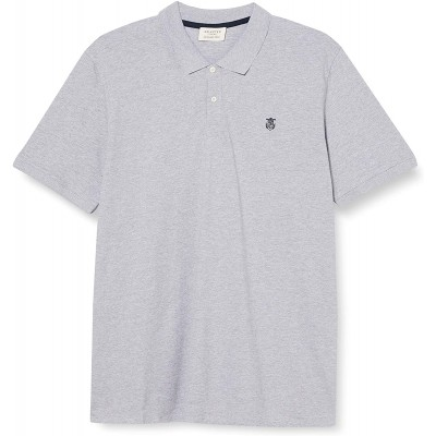 SELECTED HOMME Herren Slharo Ss Embroidery Polo W Ps Polohemd Bekleidung
