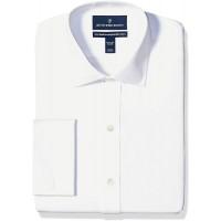 Buttoned Down Herren Xtra-Slim Fit Spread-Collar French Cuff Non-Iron Dress Shirt Bekleidung