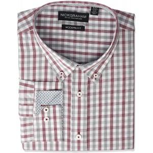 Nick Graham Herren Bowery Button Down Collar Dress Shirt Smokinghemd Bekleidung