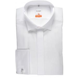 OLYMP Luxor modern fit Gala Hemd extra Langer Arm weiß Bekleidung