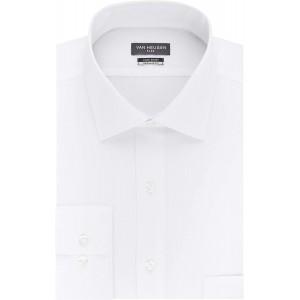 Van Heusen Herren Dress Shirt Regular Fit Flex Collar Stretch Solid Smokinghemd Bekleidung