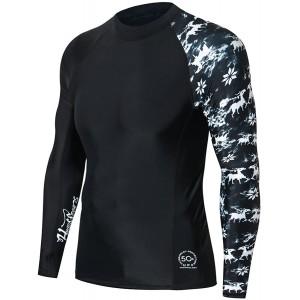 HUGE SPORTS Splice Herren UV-Schutz UPF 50+ Skins Rash Guard Langarm Wandbild XL Bekleidung
