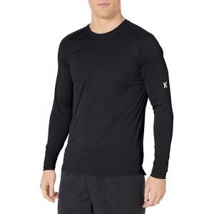 Hurley Herren Nike Dri-Fit Long Sleeve Sun Protection +50 UPF Rashguard Hemd schwarz XX-Large Bekleidung