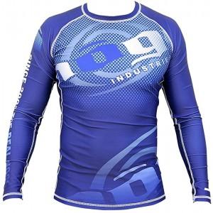 Nogi Carbon Long Sleeve Rashguard von Industries – Blau Bekleidung
