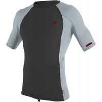 O'Neill Herren Premium Skins UPF 50+ Short Sleeve Rash Guard Raven Cool Grey Cool Grey 2XL Bekleidung
