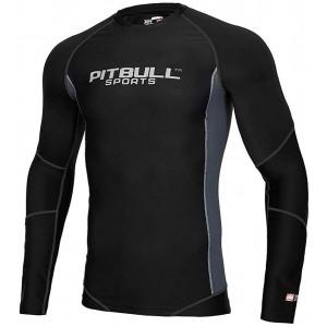 Pit Bull West Coast Rashguard Compression PRO Plus Langarm - Herren Rash Guard für Jiu Jitsu Fitness Grappling und MMA Bekleidung