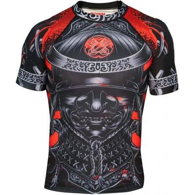 Ronin Samurai Blackout Ghost Rash Guard Base Layer Kompressionsshirt für BJJ MMA Grappling Herren schwarz Medium Bekleidung